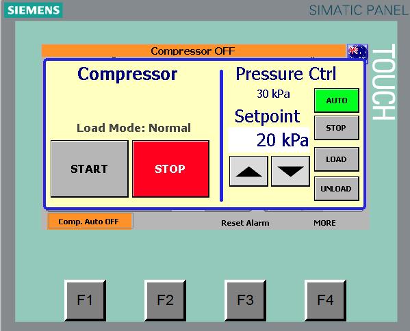 Compressor load/unload